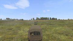 Notre convoi en route vers le front