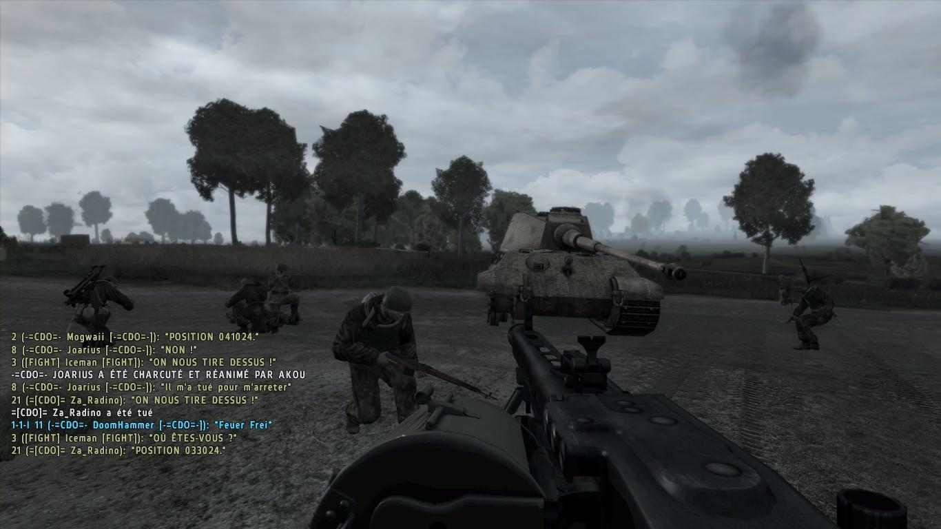La fin de la mission avec la destruction du dernier blindé ennemi : objectif atteinte pour notre unité !