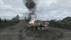 Sur notre route, un blindé allemand détruit par les premières unités de notre groupe.