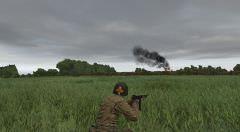 BAKER attaque par le Nord. Le camion radio a été détruit et les derniers allemands vont bientôt se rendre...
