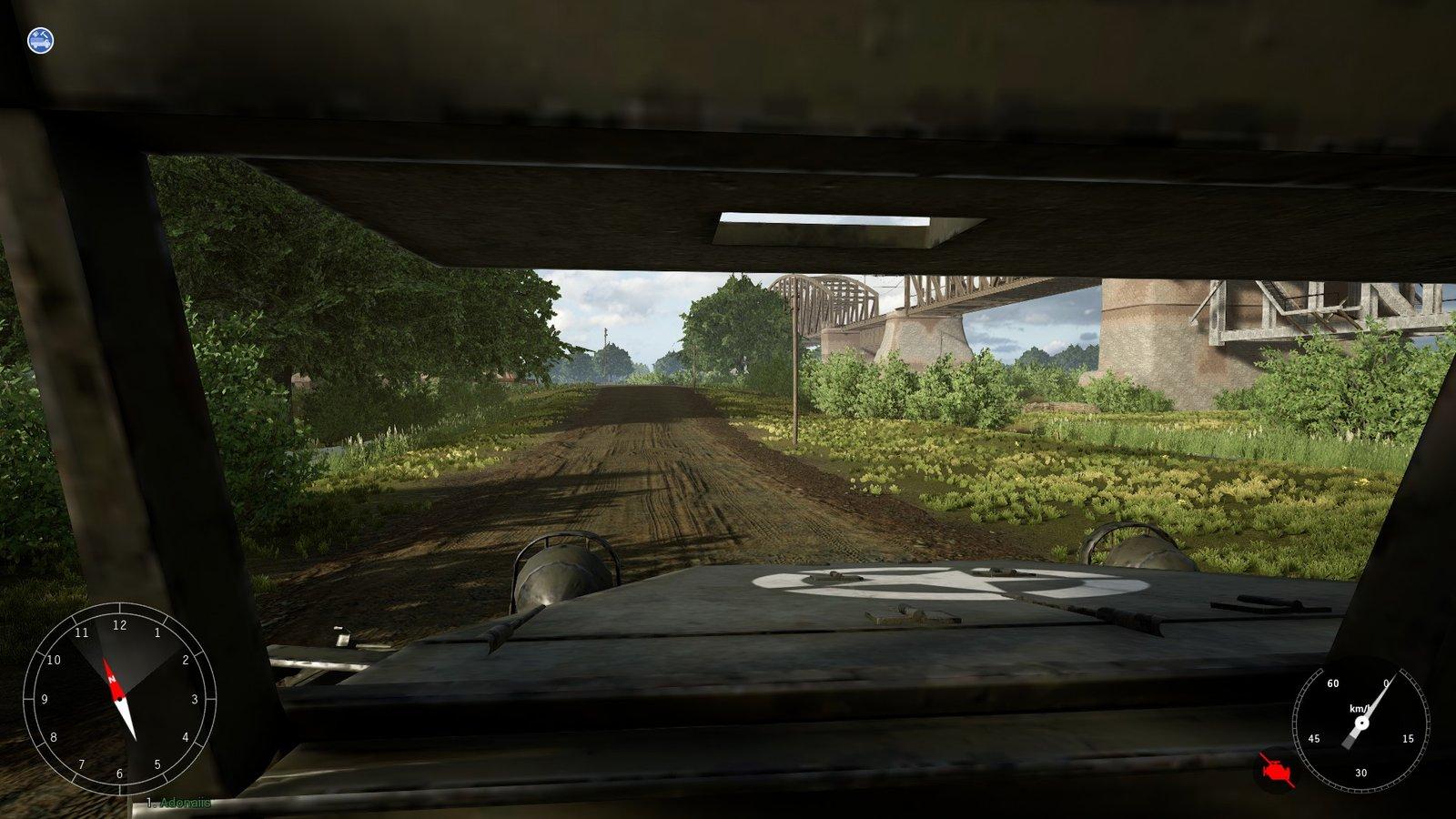 Post Scriptum - Je conduis un M3/M3A1 Half-tracks. Yeah ! Le système de conduite est vraiment sympathique.